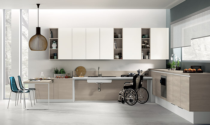 Kitchen models for people with disabilities
