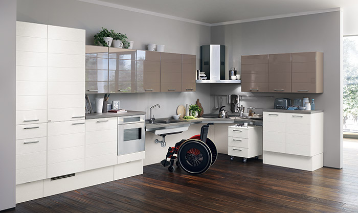 Cucine per disabili e anziani scavolini utility system Kitchen design for elderly