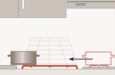 La griglia ribaltabile permette ad un disabile su carrozzina di spostare una pentola dal fornello senza alzarla