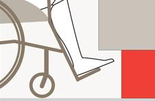Lo zoccolo rientrato permette l'inserimento delle pedaline di una carrozzina di un disabile o di un anziano per accedere con facilità ai cassetti