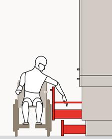 Lo stesso zoccolo può essere dotato di cestelli di contenimento estraibili, con i quali è possibile sfruttare ogni spazio.