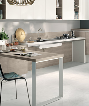 Highly useful solutions applicable to each Scavolini kitchen range